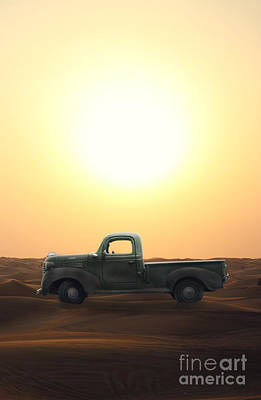 Old Trucks Photograph - Stuck In The Sand by Edward Fielding