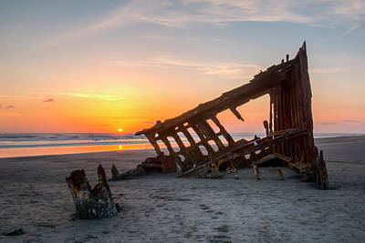Peter Iredale Photograph - Stuck In The Sand by Kristina Rinell