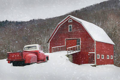Photograph - Stuck In The Snow by Lori Deiter
