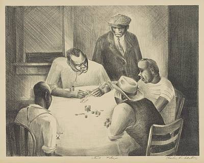 Drawing - Stud Poker By Charles Henry Alston 1938 by Movie Poster Prints