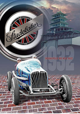 Digital Art - Studebaker At Indy by Ed Dooley