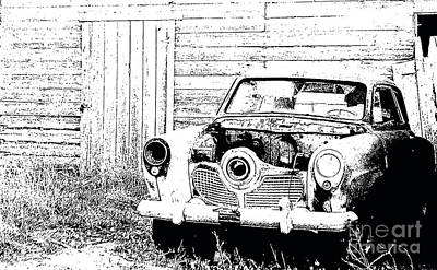Photograph - Studebaker Black And White by Renie Rutten