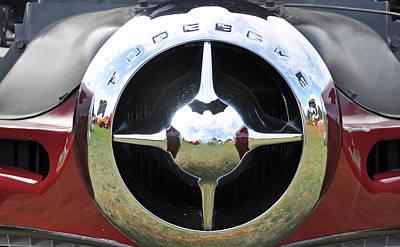 Photograph - Studebaker Chrome by Glenn Gordon