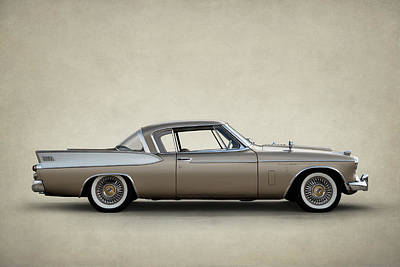 Digital Art - Studebaker Golden Hawk by Douglas Pittman