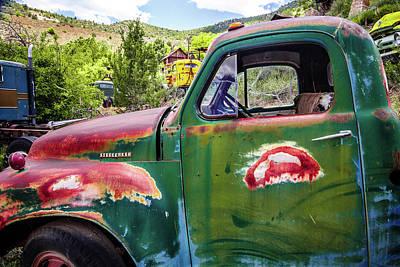Photograph - Studebaker Green Truck by Steven Bateson