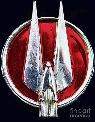 Photograph - Studebaker Hood Emblem by Steven Parker