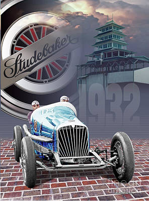 Digital Art - Studebaker Indy by Ed Dooley