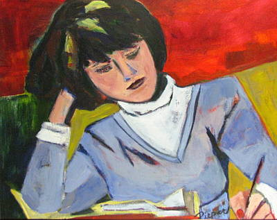 Art Print featuring the painting Student by Betty Pieper