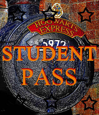 Painting - Student Pass Hogwarts Express by David Lee Thompson