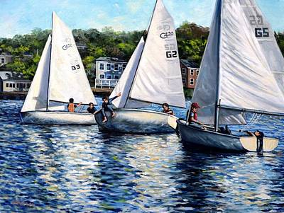 Painting - Student Sailors by Eileen Patten Oliver