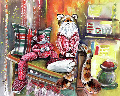 Painting - Students At Muker Old School by Miki De Goodaboom