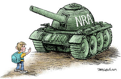 Drawing - Students Vs The Nra by Daryl Cagle