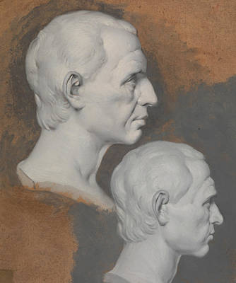 Painting - Studies Of A Classical Bust by Joseph Wright