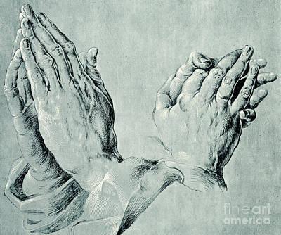 Studies Of Hands Art Print by Hans Hoffmann