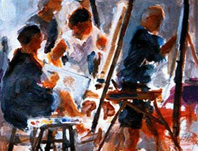Painting - Studio B by Chuck Berk