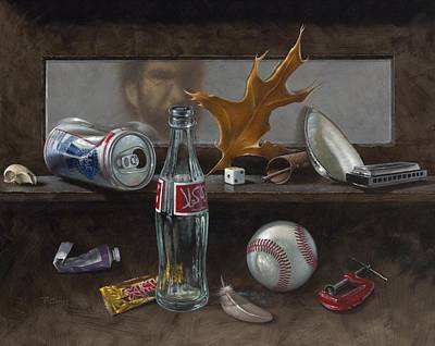 Classical Realism Painting - Studio Curios by Timothy Jones