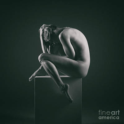 Photograph - Studio Nude Seated Posing by Clayton Bastiani