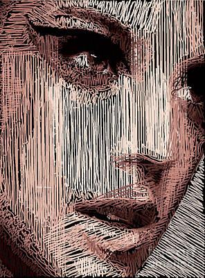 Digital Art - Studio Portrait In Pencil 57 by Rafael Salazar