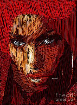 Digital Art - Studio Portrait In Pencil 61 by Rafael Salazar