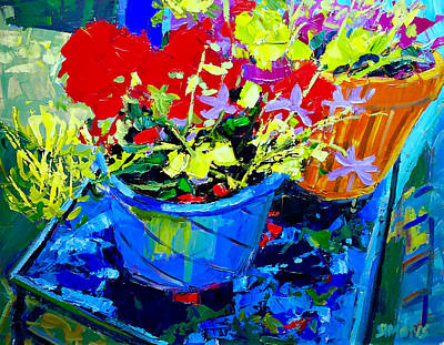 Painting - Studio Pots 7 by Brian Simons