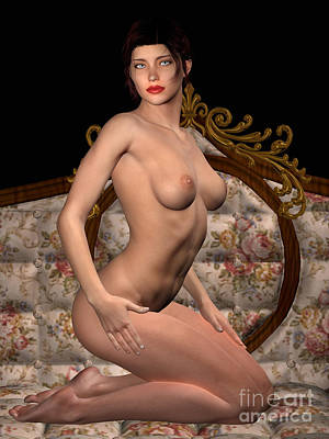 Photograph - Studio Woman Render 04 by Carlos Diaz