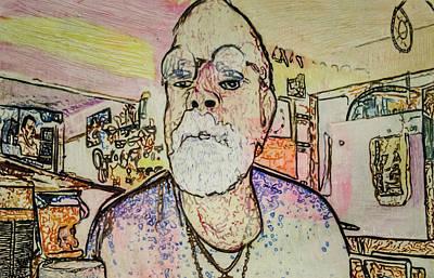 Painting - Studio Scribble by Ron Richard Baviello