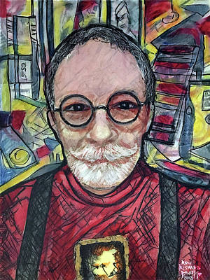 Painting - Studio Self-portrait by Ron Richard Baviello