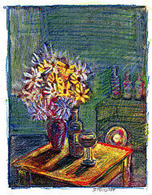 Drawing - Studio Still-life by Don Thibodeaux