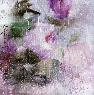 Painting - Studio313 Roses And Rain by Michele Carter