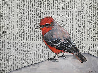 Mixed Media - Studious Flycatcher by Anne Lewis