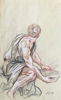 Drawing - Study After A Painting by Alejandro Lopez-Tasso