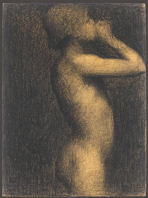 Georges Seurat Drawing - Study For A Bather. Asnieres by Georges Seurat