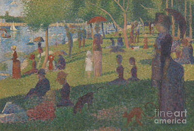 Pointillist Painting - Study For A Sunday On La Grande Jatte, 1884 by Georges Pierre Seurat