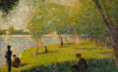 Jatte Painting - Study For A Sunday On La Grande Jatte by Georges-Pierre Seurat