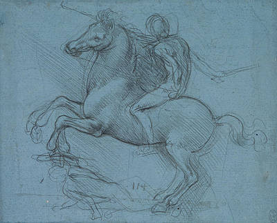 Drawing - Study For An Equestrian Monument  by Leonardo da Vinci