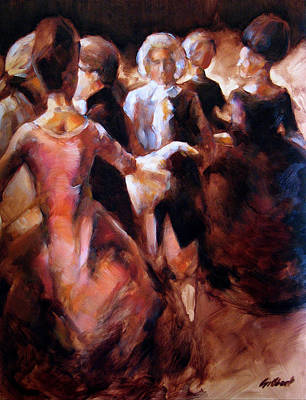 Study For At The Ball Art Print by Stuart Gilbert