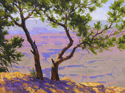 Arizona Painting - Study For Canyon Portal by Cody DeLong