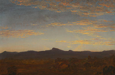 Evening Landscapes Painting - Study For Catskill Creek by Thomas Cole