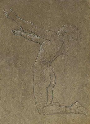 Pastel Drawing Drawing - Study For Clytie by Frederic Leighton