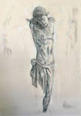 Drawing - Study For Crucifix by Paez ANTONIO