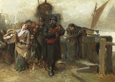 Policeman Painting - Study For Deserted  A Foundling by Frank Holl