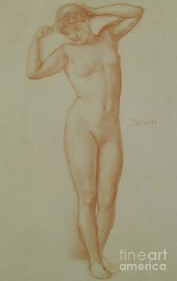 Study For Diadumene, 1881 Art Print by Edward John Poynter