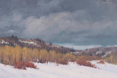 Snow Scene Wall Art - Painting - Study For Early Winter by Cody DeLong