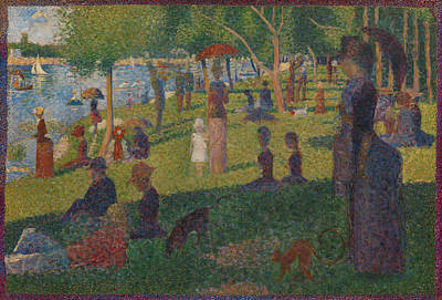 Pointilist Painting - Study For A Sunday On La Grande Jatte by Georges Seurat