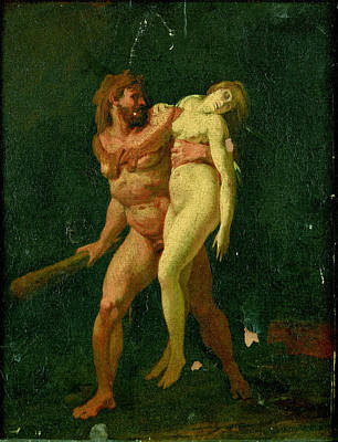 Hercules And Alcestis Painting - Study For Hercules And Alcestis by Jean-Baptiste Regnault