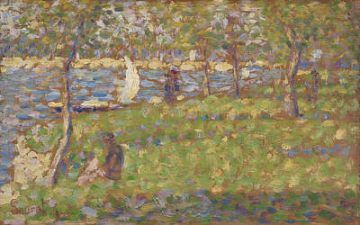 Jatte Painting - Study For La Grande Jatte by Georges Pierre Seurat