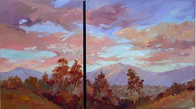 Betty Billups Wall Art - Painting - Study For Mount San Antonio by Betty Jean Billups