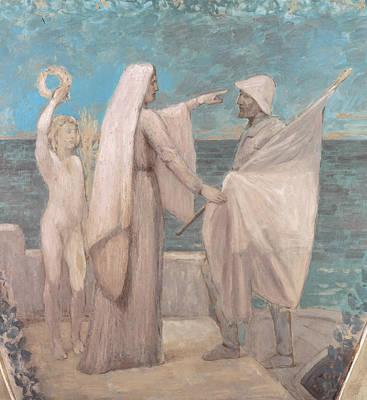 Painting - Study For Patriotism by Pierre Puvis de Chavannes