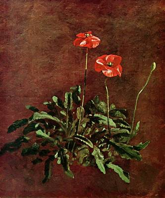 Painting - Study For Poppies by Constable John