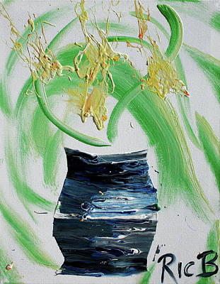 Painting - Study For Slapdragons In Black And Blue Vase by Ric Bascobert